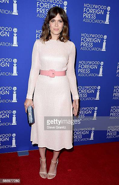 Actress Mandy Moore attends the Hollywood Foreign Press Association's Grants Banquet at the Beverly Wilshire Four Seasons Hotel on August 4 2016 in...