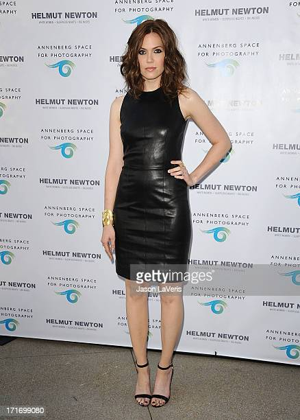 Actress Mandy Moore attends the opening of 'Helmut Newton White Women Sleepless Nights Big Nudes' at Annenberg Space For Photography on June 27 2013...