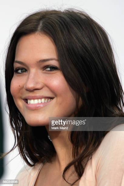 """Actress Mandy Moore attends the premiere for the Disney Animated Feature """"Chicken Little"""" at the El Capitan Theatre October 30, 2005 in Los Angeles,..."""
