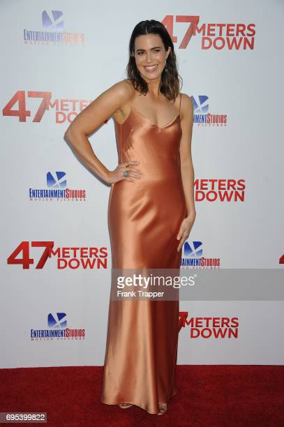 Actress Mandy Moore attends the premiere of Dimension Films' '47 Meters Down' at Regency Village Theatre on June 12 2017 in Westwood California