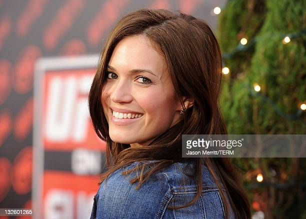 Actress Mandy Moore attends UFC on Fox Live Heavyweight Championship at the Honda Center on November 12 2011 in Anaheim California