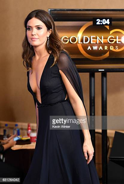 Actress Mandy Moore walks into the press room during the 74th Annual Golden Globe Awards at The Beverly Hilton Hotel on January 8 2017 in Beverly...