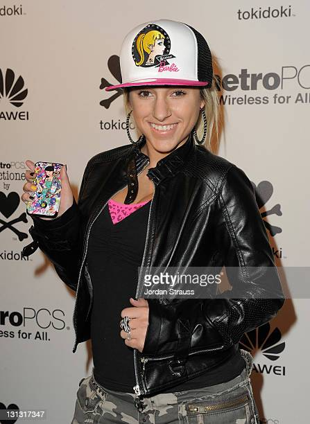 Actress Mandy Rain attends the launch of the MetroPCS Huawei M835 sanctioned by tokidoki at the tokidoki flagship store on November 3 2011 in Los...