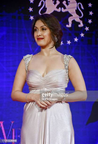 Actress Manjari Fadnis attends Power BrandsBollywood Film Journalist's Award 2019 at hotel Novotel Juhu in Mumbai