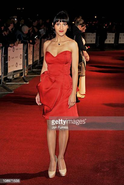 Actress Manjinder Virk attends The 31st London Film Critics' Circle Award at BFI Southbank on February 10 2011 in London England