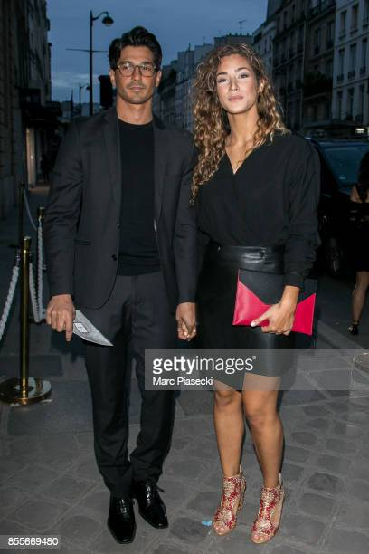 Actress Manon Azem and guest attend Her Time Omega Outside Arrivals as part of the Paris Fashion Week Womenswear Spring/Summer 2018 on September 29...