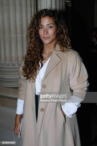 Actress Manon Azem attends the Vendorama Exhibition as Boucheron Celebrates its 160th Anniversary at Monnaie de Paris on January 11 2018 in Paris...