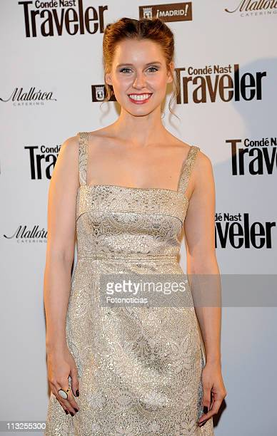 Actress Manuela Velles arrives to the 'Conde Nast Traveller Awards' 2011 ceremony at the Jardines de Cecilio Rodriguez on April 28 2011 in Madrid...