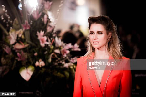 Actress Manuela Velles attends 'Casi 40' premiere during the 21th Malaga Film Festival at the Cervantes Theater on April 20 2018 in Malaga Spain