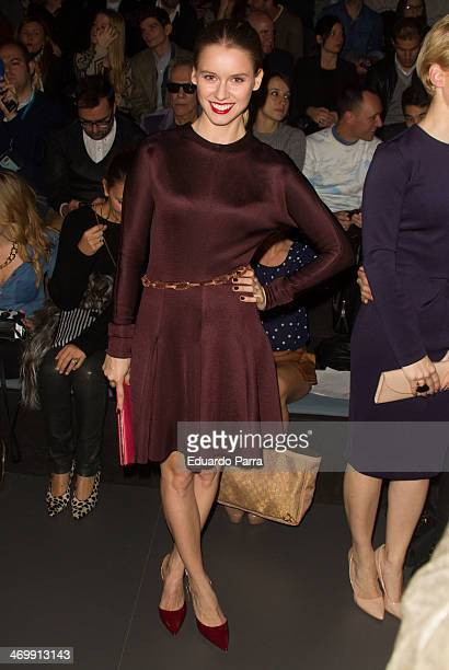 Actress Manuela Velles attends Mercedes Benz Fashion Week Madrid W/F 2014 at Ifema on February 17 2014 in Madrid Spain