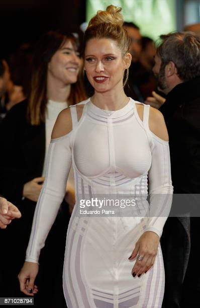 Actress Manuela Velles attends the 'Musa' premiere at Capitol cinema on November 6 2017 in Madrid Spain