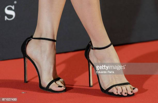Actress Manuela Velles shoes detail attends the 'Musa' premiere at Capitol cinema on November 6 2017 in Madrid Spain