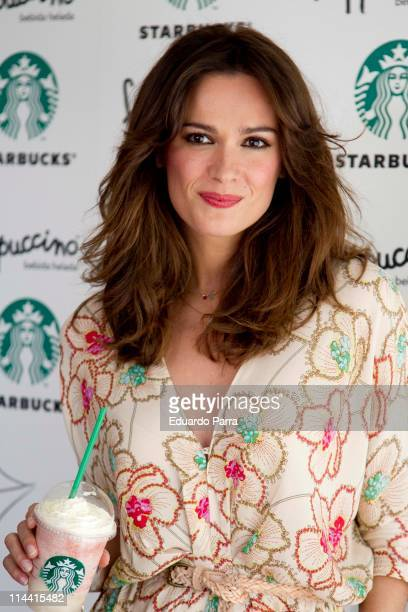 Actress Mar Saura attends new frapuccino by Starbucks photocall at Starbucks office on May 19 2011 in Madrid Spain