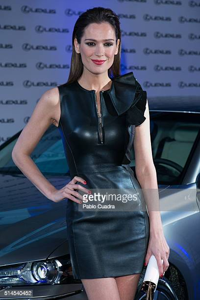 Actress Mar Saura attends the presentation of Bertin Osborne as new ambassador of Lexus on March 9 2016 in Madrid Spain