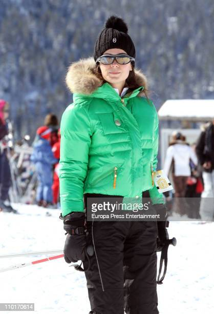 Actress Mar Saura sighting on March 16 2011 in Baqueira Beret Spain