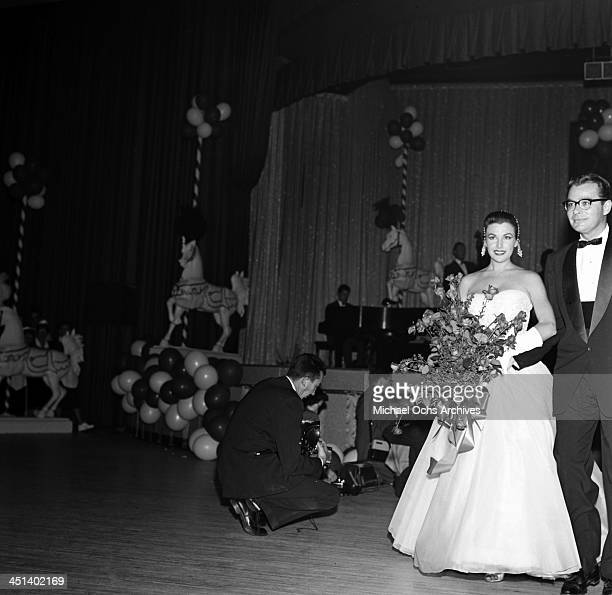Actress Mara Corday attends the Makeup Artist ball in Los AngelesCalifornia
