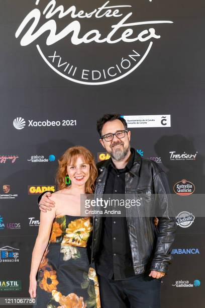 Actress María Vázquez and director Paco Plaza attend the Mestre Mateo Awards in A Coruna on March 07 2020 in A Coruna Spain