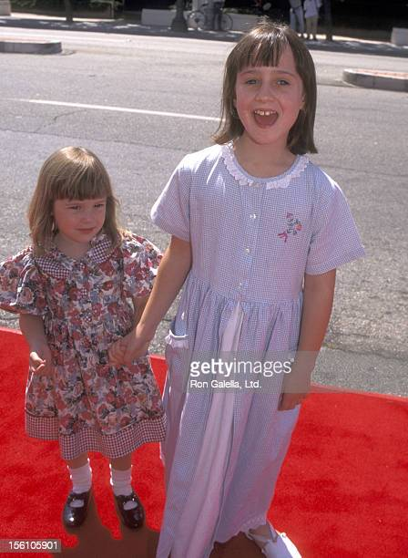 Actress Mara Wilson and sister Anna Wilson attend the 'Matilda' Culver City Premiere on July 28, 1996 at Mann Culver 6 Theatres in Culver City,...