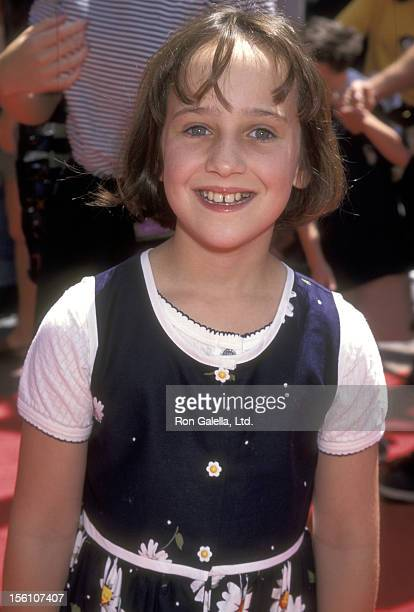 Actress Mara Wilson attends 'A Simple Wish' Universal City Premiere on June 29, 1997 at Cineplex Odeon Universal City Cinemas in Universal City,...