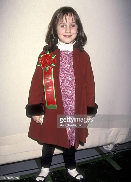 Actress Mara Wilson attends the 63rd Annual Hollywood Christmas Parade on November 27, 1994 at KTLA Studios in Hollywood, California.