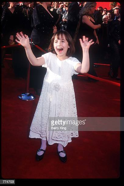 Actress Mara Wilson gestures at the sixtyseventh Academy Awards March 27 1995 in Los Angeles CA After nearly threequarters of a century of...