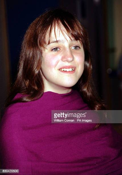 Actress Mara Wilson star of the children's film Thomas and the Magic Railroad at the movie's world charity premiere at the Odeon cinema in London's...