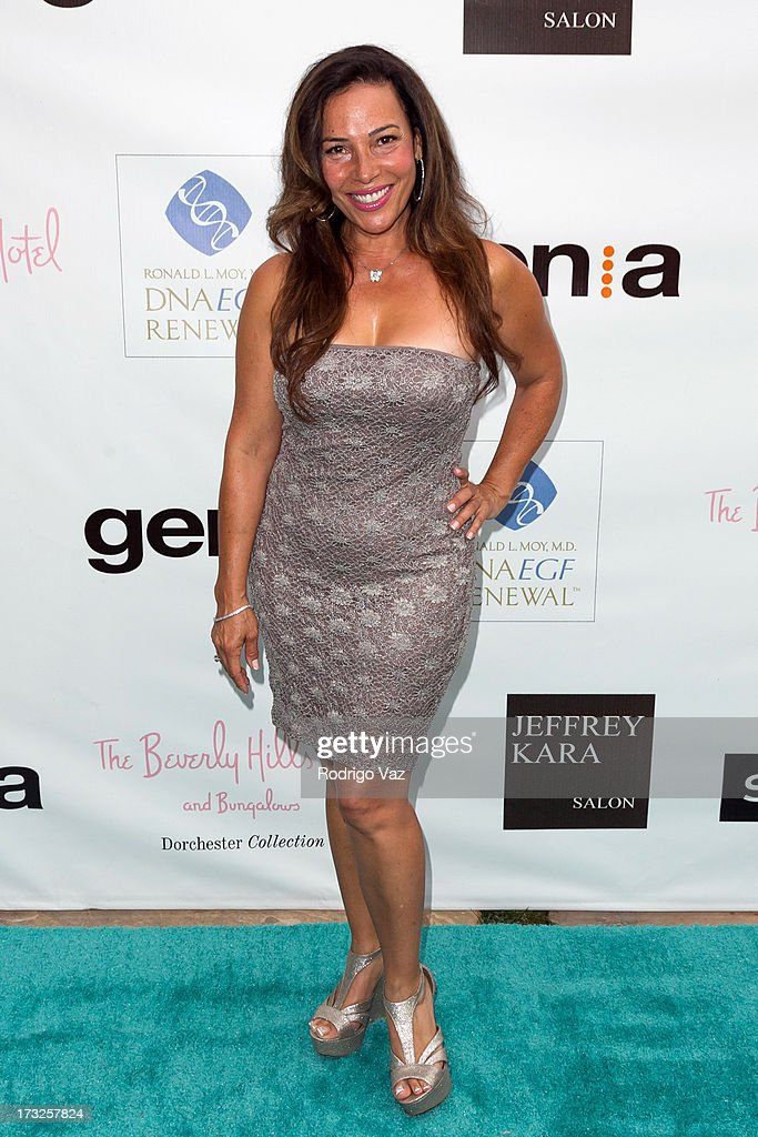 Actress Marabina Jaimes arrives at 'The Fountain Of Youth White Party' to celebrate