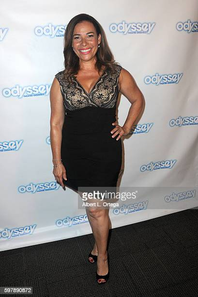 Actress Marabina Jaimes arrives for the Reading Of 'The Blade Of Jealousy/La Celsa De Misma' held at The Odyssey Theatre on August 29 2016 in Los...