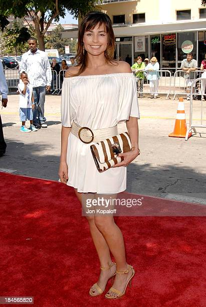 Actress Marcela Mar arrives at the Los Angeles Premiere Journey To The Center Of The Earth at the Mann Village Theater on June 29 2008 in Westwood...