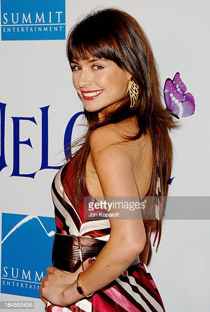 Actress Marcela Mar arrives at the Los Angeles Premiere Penelope at the Directors Guild of America on February 20 2008 in Los Angeles California