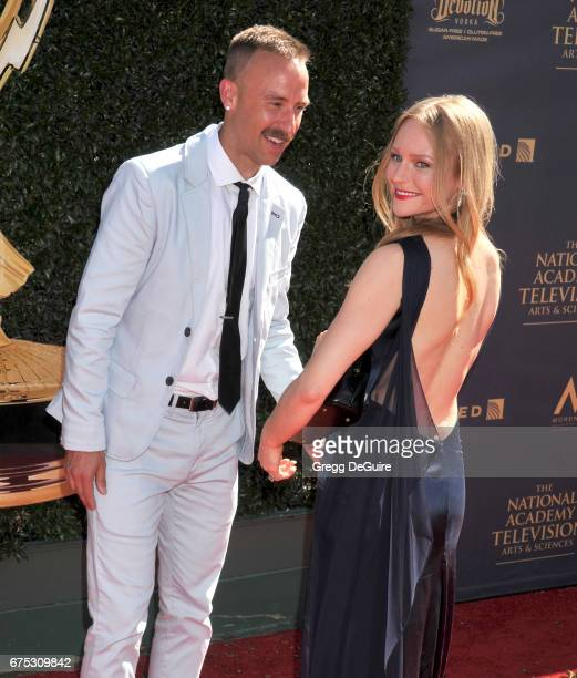 Actress Marci Miller arrives at the 44th Annual Daytime Emmy Awards at Pasadena Civic Auditorium on April 30 2017 in Pasadena California