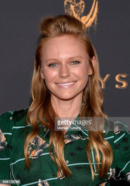 Actress Marci Miller attends the Television Academy's cocktail reception with stars of daytime television celebrating the 69th Emmy Awards at Saban...