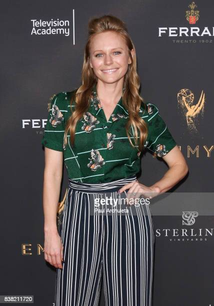 Actress Marci Miller attends the Television Academy's cocktail reception with the Stars of Daytime Television celebrating The 69th Emmy Awards at...