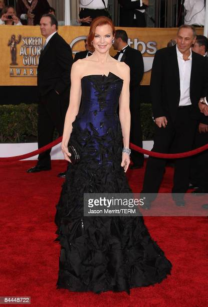 Actress Marcia Cross arrives at the 15th Annual Screen Actors Guild Awards held at the Shrine Auditorium on January 25 2009 in Los Angeles California