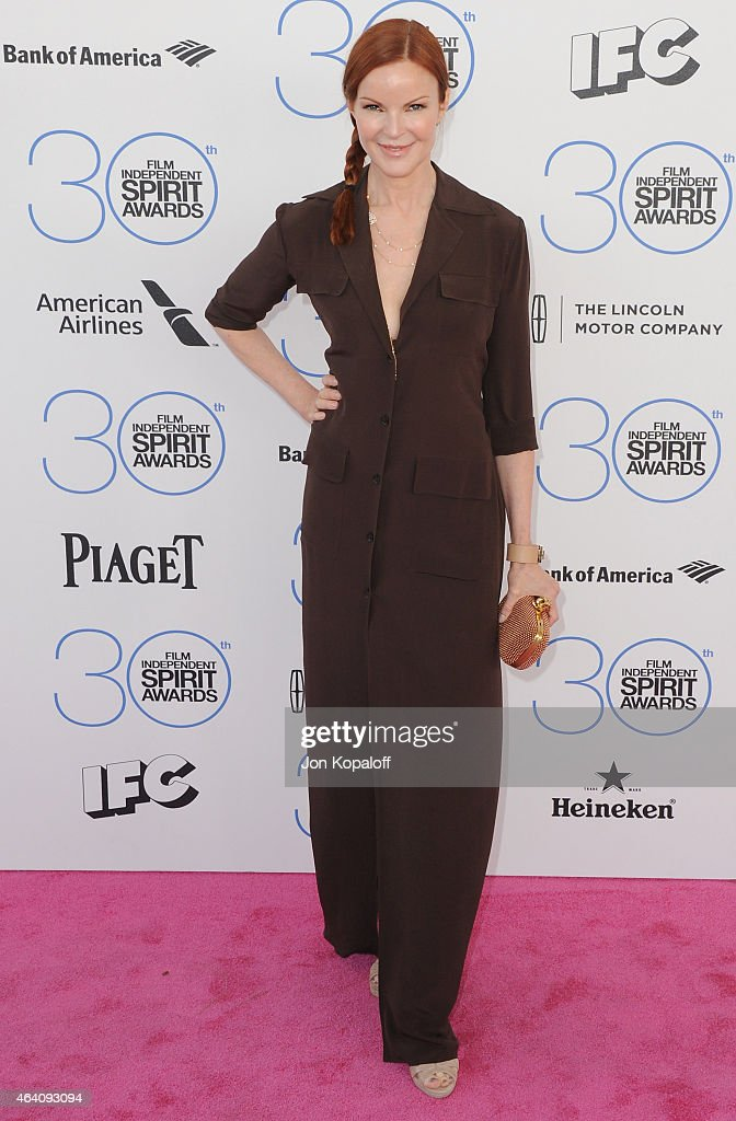 Actress Marcia Cross arrives at the 2015 Film Independent Spirit Awards on February 21, 2015 in Santa Monica, California.