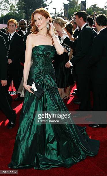 Actress Marcia Cross arrives at the 57th Annual Emmy Awards held at the Shrine Auditorium on September 18 2005 in Los Angeles California