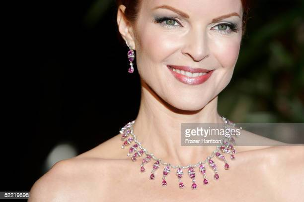 Actress Marcia Cross arrives at the 7th Annual Costume Designers Guild Awards at the Beverly Hilton Hotel on February 19 2005 in Beverly Hills...