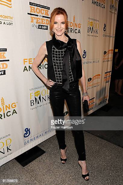 Actress Marcia Cross arrives at the Rock A Little Feed Alot benefit concert held at Club Nokia on September 29 2009 in Los Angeles California
