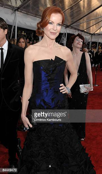 Actress Marcia Cross arrives to the TNT/TBS broadcast of the 15th Annual Screen Actors Guild Awards at the Shrine Auditorium on January 25 2009 in...