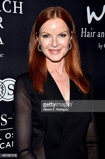 Actress Marcia Cross attends Elyse Walker presents the 10th anniversary Pink Party hosted by Jennifer Garner and Rachel Zoe at HANGAR8 on October 18...
