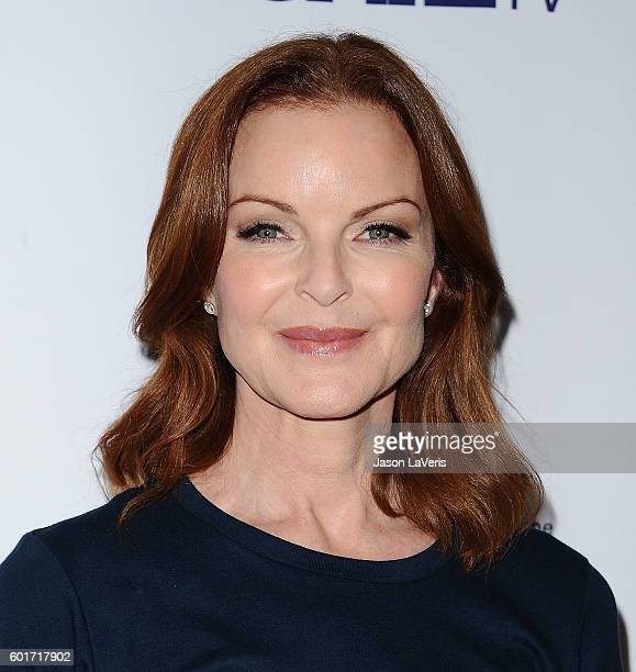 Actress Marcia Cross attends Stand Up To Cancer 2016 at Walt Disney Concert Hall on September 9 2016 in Los Angeles California