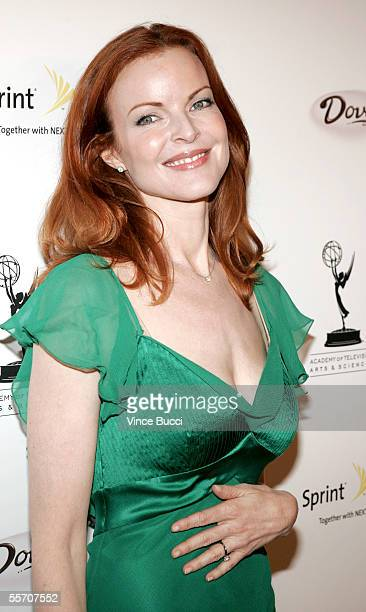 Actress Marcia Cross attends the Academy of Television Arts and Sciences' reception for Emmy Award nominees for outstanding performing talent at...