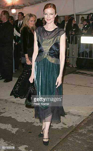 Actress Marcia Cross attends the MET Costume Institute Gala Celebrating Chanel at the Metropolitan Museum of Art May 2 2005 In New York City