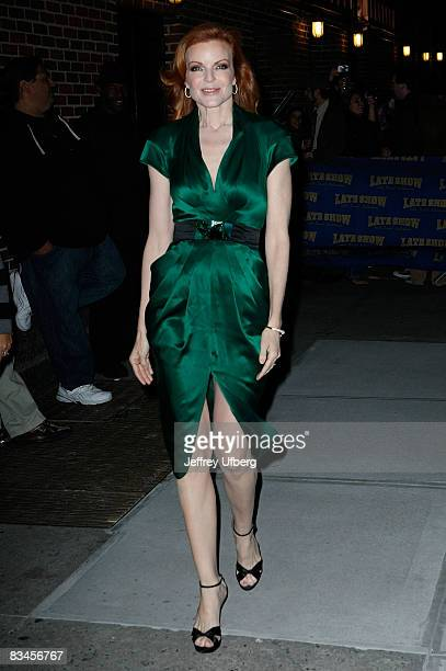 Actress Marcia Cross visits Late Show with David Letterman at the Ed Sullivan Theater on October 27 2008 in New York City