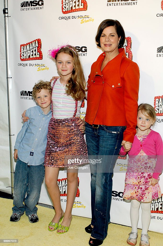 Actress Marcia Gay Harden and her children attend opening night of Cirque du Soleil's 'Banana Shpeel' at the Beacon Theatre on May 19, 2010 in New York City.