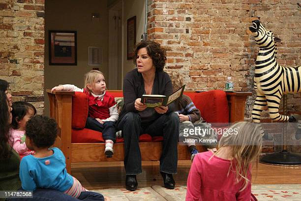 Actress Marcia Gay Harden and her children Julitta Scheel and Hudson Scheel launch the Little Airplane Productions children's book division at Little...