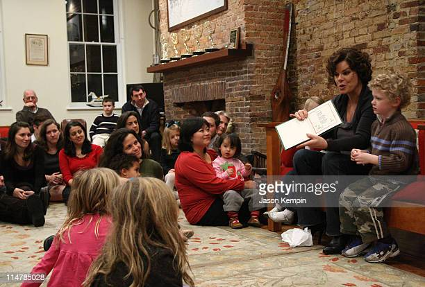 Actress Marcia Gay Harden and her son Hudson Scheel launch the Little Airplane Productions children's book division at Little Airplane Studios...