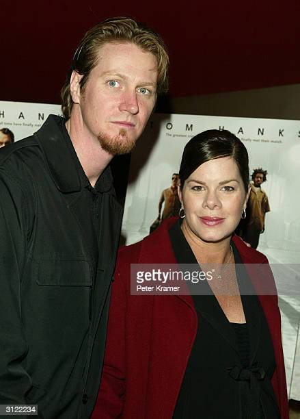 Actress Marcia Gay Harden and husband Thaddaeus D Scheel attend a private screening of The Ladykillers on March 22 2004 at the Landmark Sunshine...