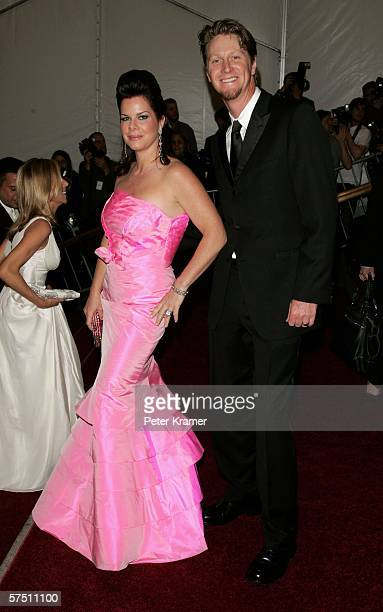 Actress Marcia Gay Harden and husband Thaddaeus Scheel attend the Metropolitan Museum of Art Costume Institute Benefit Gala Anglomania at the...