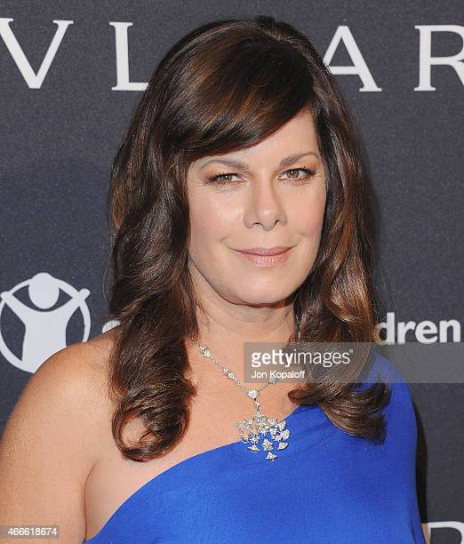 Actress Marcia Gay Harden arrives at BVLGARI And Save The Children STOP THINK GIVE PreOscar Event at Spago on February 17 2015 in Beverly Hills...